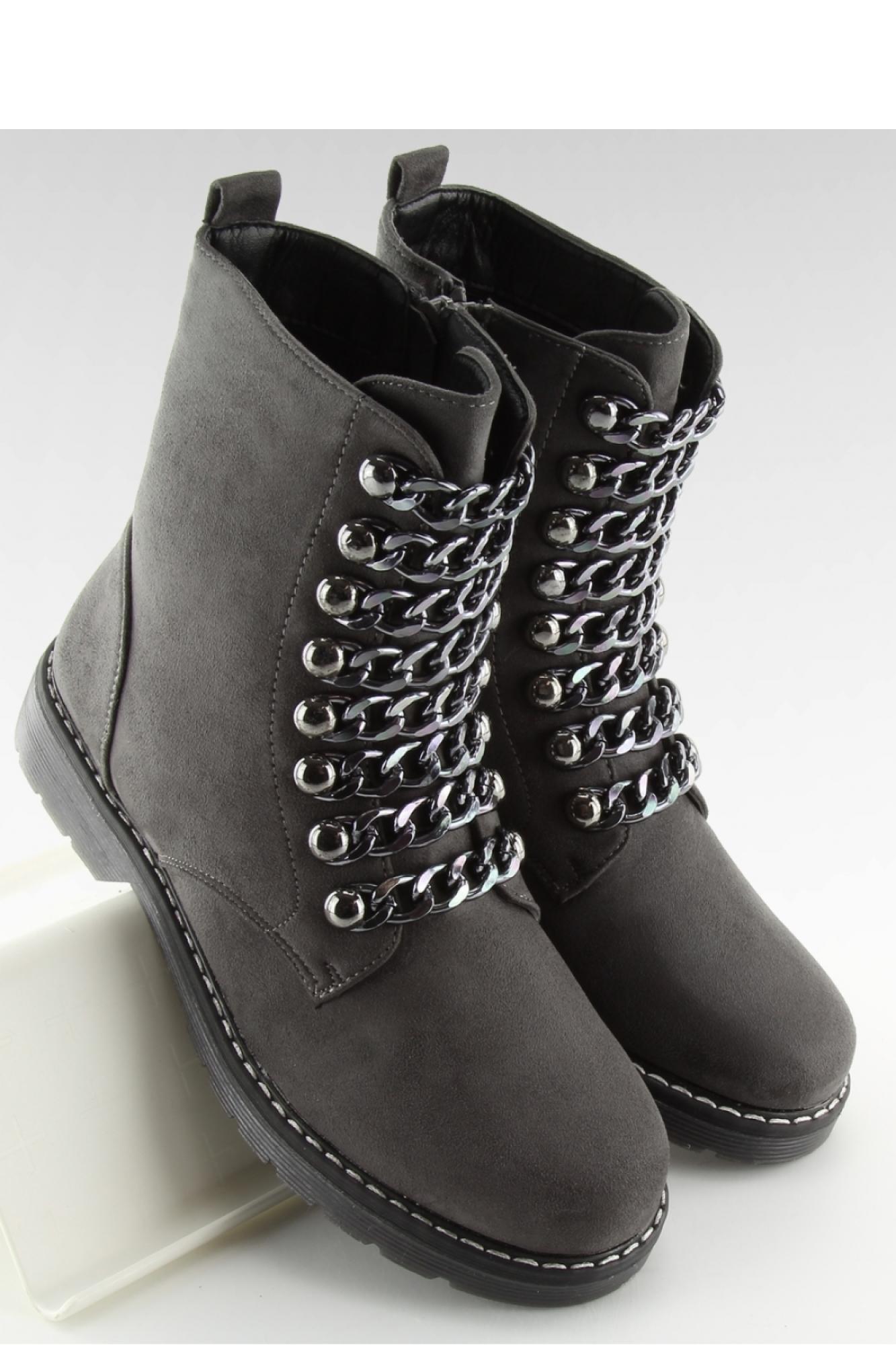 8ff515db235ca Inello - Женская обувь BOTKI WORKERY SZARE 061-27-1 GREY - Inello ~Workery