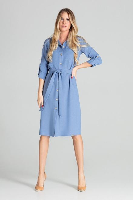 GLOBALTEX  M701 Платье Голубой оптом