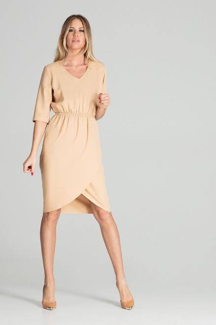 GLOBALTEX  M702 Платье Бежевый оптом