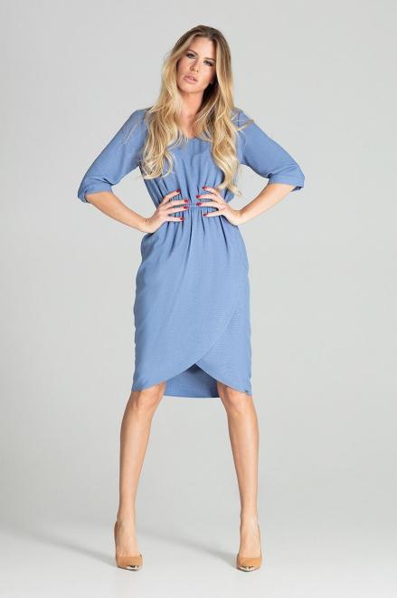 GLOBALTEX  M702 Платье Голубой оптом