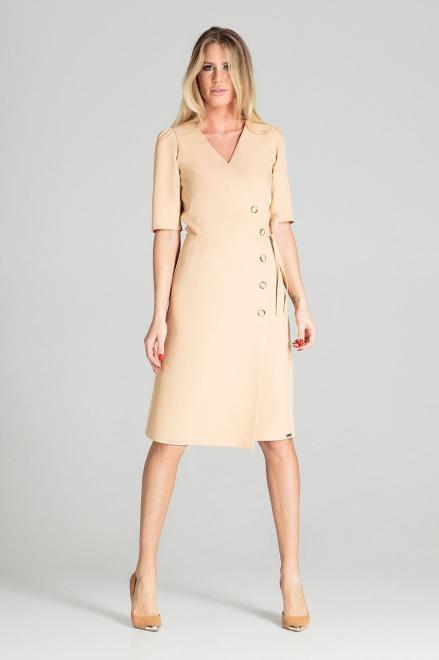 GLOBALTEX  M703 Платье Бежевый оптом