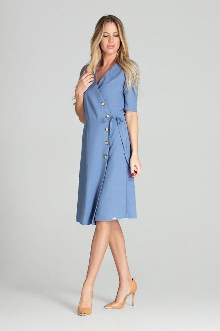 GLOBALTEX  M703 Платье Голубой оптом