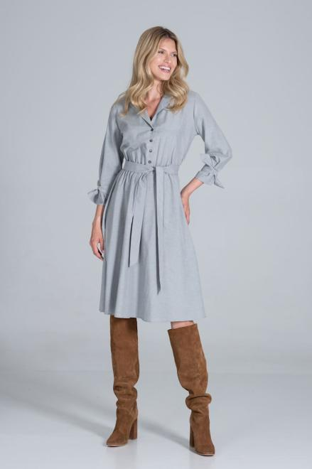 Figl  M838 Платье серый оптом