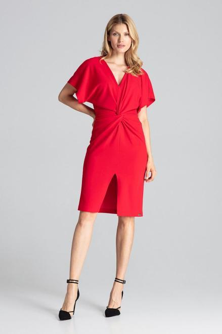 GLOBALTEX  M687 Платье Красный оптом