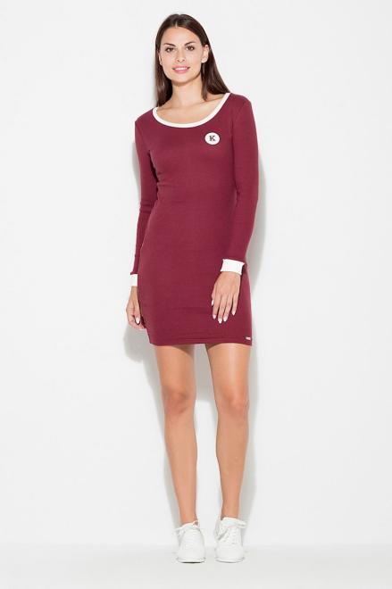 GLOBALTEX  K452 Платье Бордовый оптом