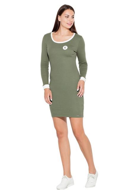 GLOBALTEX  K452 Платье Оливковый оптом
