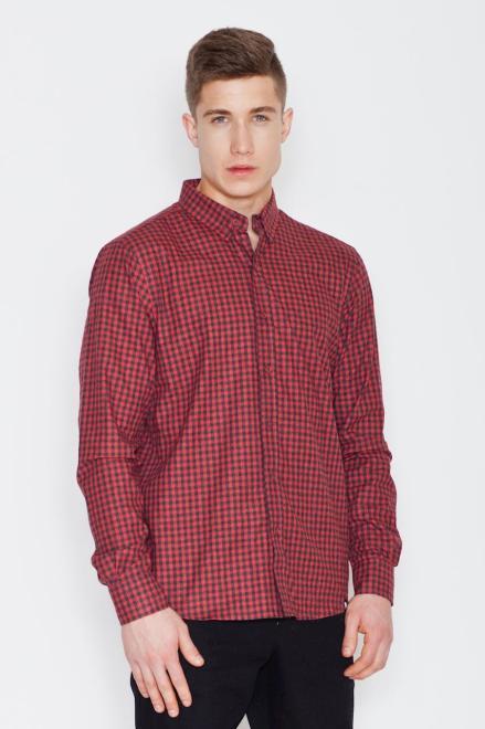 Visent  V010 Рубашка CzarnoCzerwony оптом