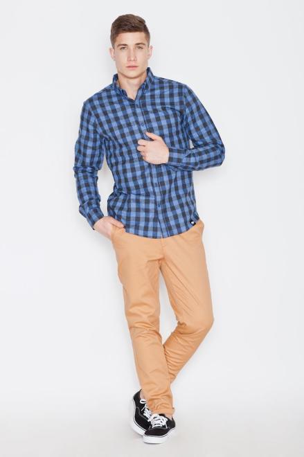 Visent  V010 Рубашка NiebieskoCzarny оптом