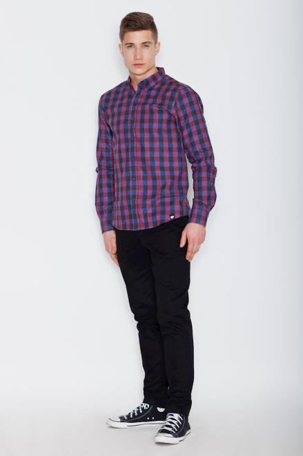 Visent  V010 Рубашка NiebieskiBordo оптом