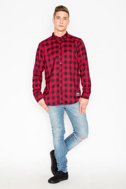 GLOBALTEX  V026 Рубашка Красный оптом