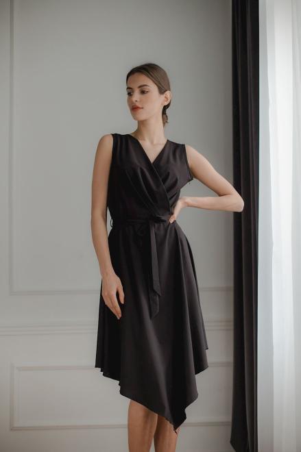 Lenitif  L080 Платье Черный оптом