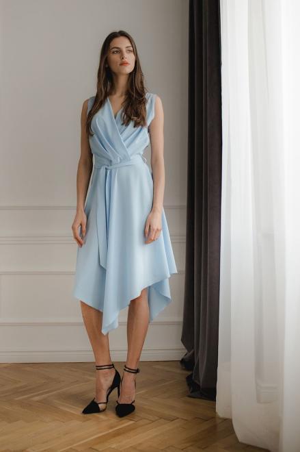Lenitif  L080 Платье Голубой оптом
