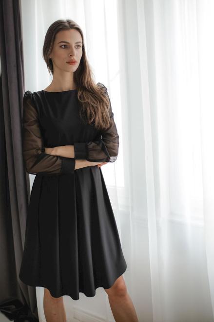 Lenitif  L082 Платье Черный оптом