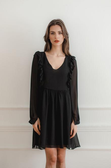 Lenitif  L083 Платье Черный оптом