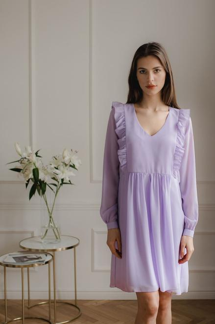 Lenitif  L083 Платье Фиолет оптом