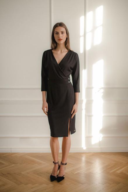 Lenitif  L086 Платье Черный оптом