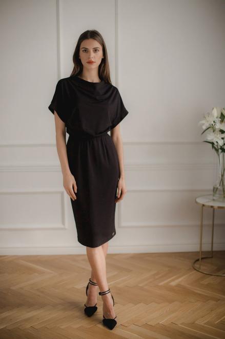 Lenitif  L087 Платье Черный оптом