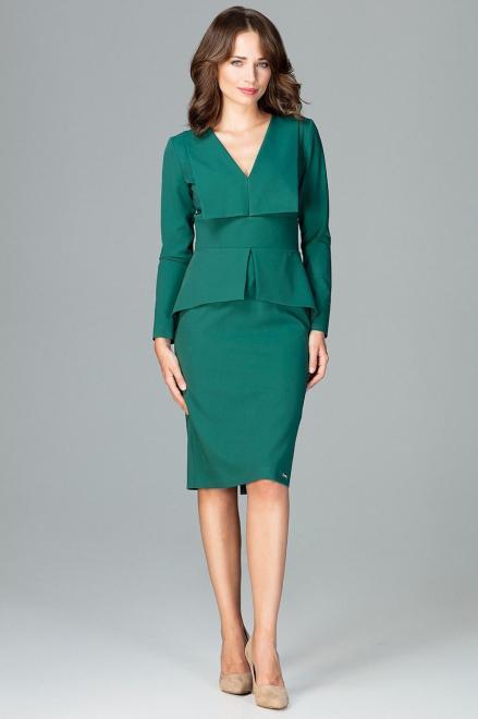 GLOBALTEX  K491 Платье Зеленый оптом