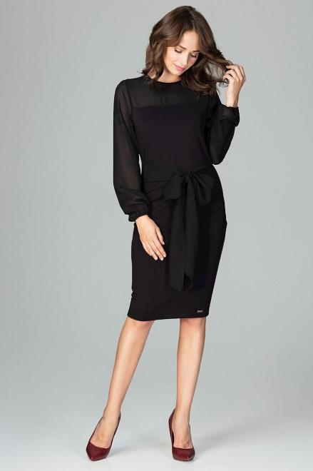 GLOBALTEX  K494 Платье Черный оптом