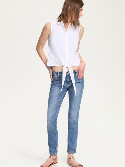 TROLL  bluzka bez rękawów  TBW0077 Блузка Белый оптом