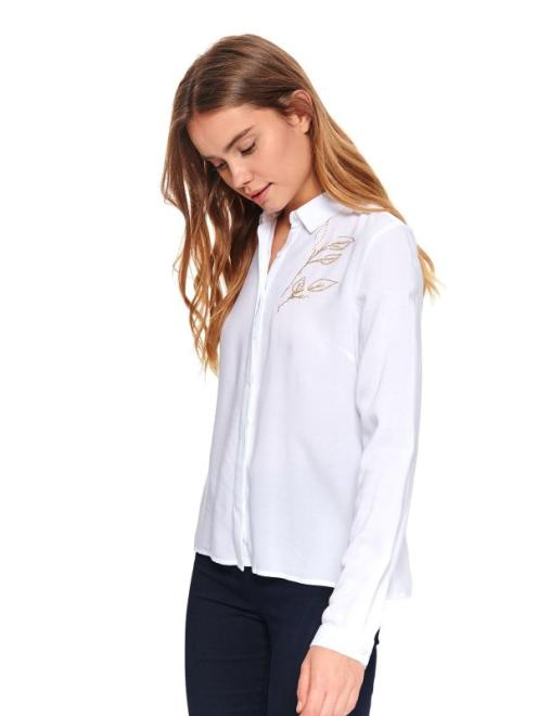 TOP SECRET  DAMSKA KOSZULA Z APLIKACJĄ SKL3008 Рубашка Белый оптом