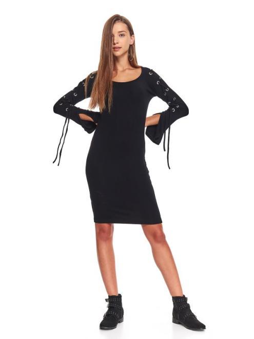 TROLL  sukienka damska gładka TSU0741 Платье Черный оптом