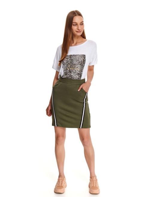 DRYWASH  mini spódniczka damska z taśmami DSD0030 Юбка Зеленый оптом