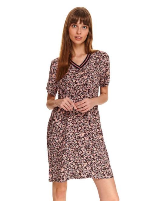 DRYWASH  sukienka damska w kwiaty DSU0103 Платье Розовый оптом