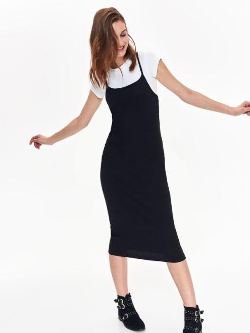 TROLL  sukienka dwuczęściowa dopasowana TSU0695 Платье Черный оптом
