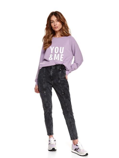 TOP SECRET  bluza nierozpinana damska z printem SBL0871 Блуза Розовый оптом