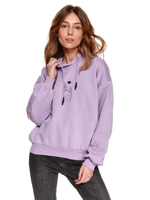 TOP SECRET  BLUZA Z NADRUKIEM SBL0875 Блуза Фиолетовый оптом