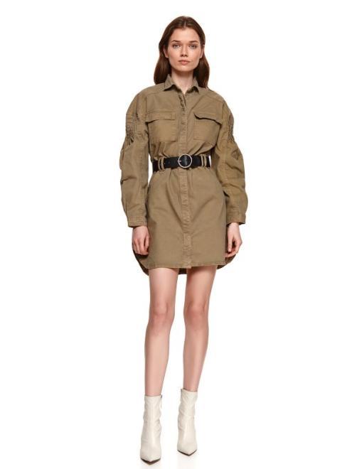 TOP SECRET  sukienka damska gładka SSU3525 Платье Хаки оптом