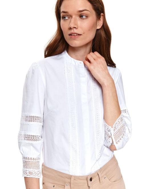 TOP SECRET  Koszula z koronkowymi wstawkami SKL3208 Рубашка Белый оптом
