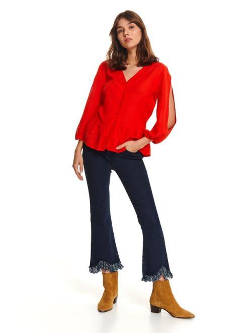 TOP SECRET  Luźna koszula z baskinką i rozcięciami na rękawach SKL2879 Рубашка Красный оптом