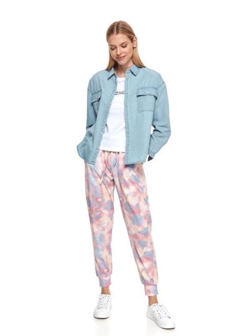 TOP SECRET  Denimowa koszula damska z długim rękawem DKL0022 Рубашка Голубой оптом
