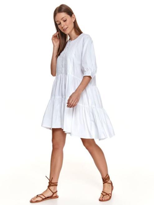 TOP SECRET  SUKIENKA TKANINOWA O LUŹNYM KROJU SSU3599 Платье Белый оптом