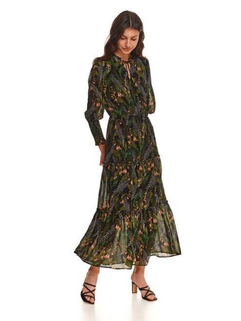 TOP SECRET  Sukienka maxi z gumkami w rękawach SSU3735 Платье Черный оптом