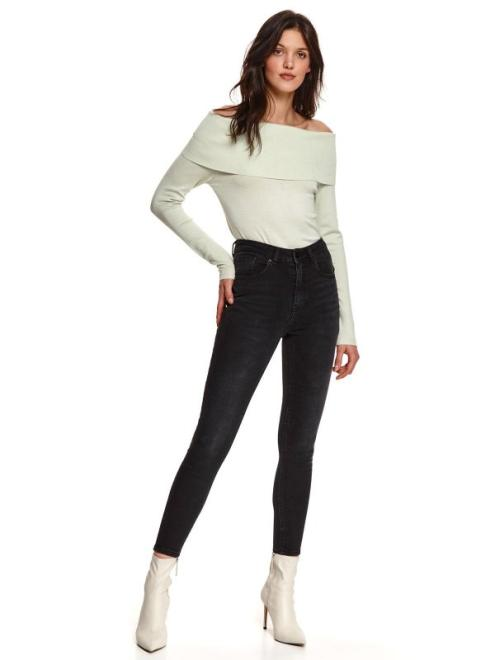 TOP SECRET  sweter długi rękaw damski   dopasowany SSW3093 Свитер Светлозеленый оптом