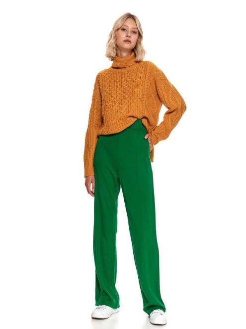 TOP SECRET  spodnie długie damskie luźne, rozszerzane SSP3865-W2 Брюки Зеленый оптом