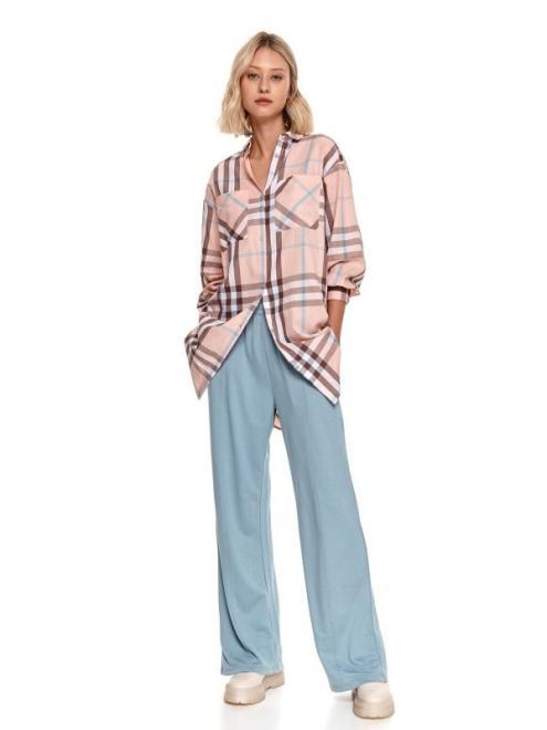 TOP SECRET  Szerokie spodnie z dzianiny dresowej SSP3853-W3 Брюки Голубой оптом