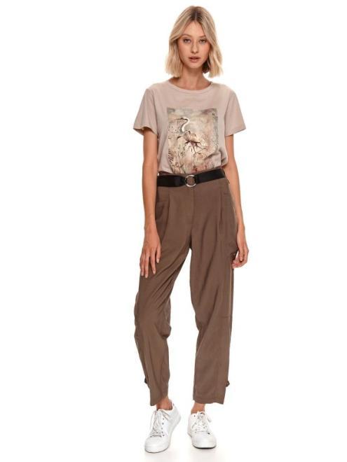 TOP SECRET  spodnie długie damskie luźne, z podwyższonym stanem SSP3870-W2 Брюки Хаки оптом