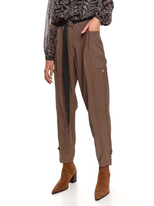 TOP SECRET  spodnie długie damskie luźne, z podwyższonym stanem SSP3870-W3 Брюки Хаки оптом