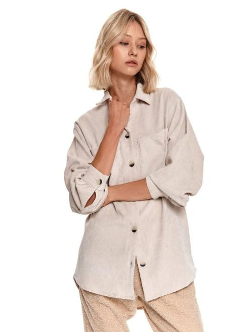 TOP SECRET  koszula długi rękaw damska  SKL3248-W2 Рубашка Светлосерый оптом