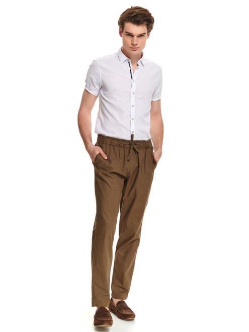 TOP SECRET  spodnie tkaninowe z wiązaniem SSC0009 Брюки Зеленый оптом