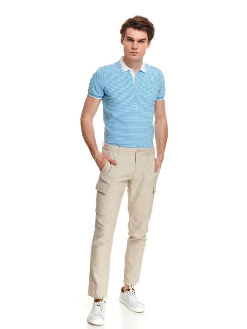 TOP SECRET  spodnie typu chino ze strukturalnej tkaniny SSP3548 Брюки Бежевый оптом