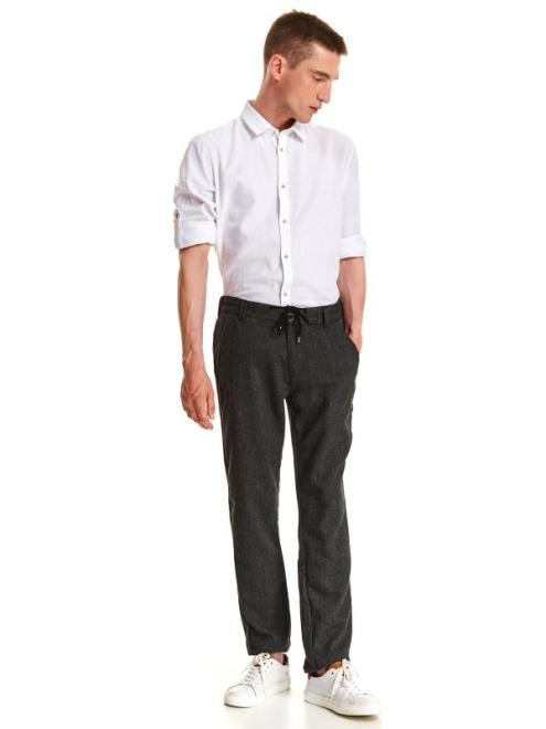 TOP SECRET  spodnie długie męskie chinosy, luźne SSP2379 Брюки Серый оптом