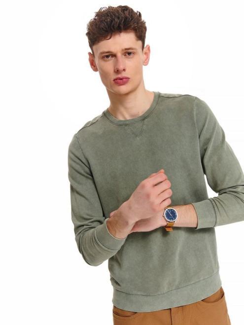 TOP SECRET  bluza z efektem oprania SBL0782 Блуза Светлозеленый оптом