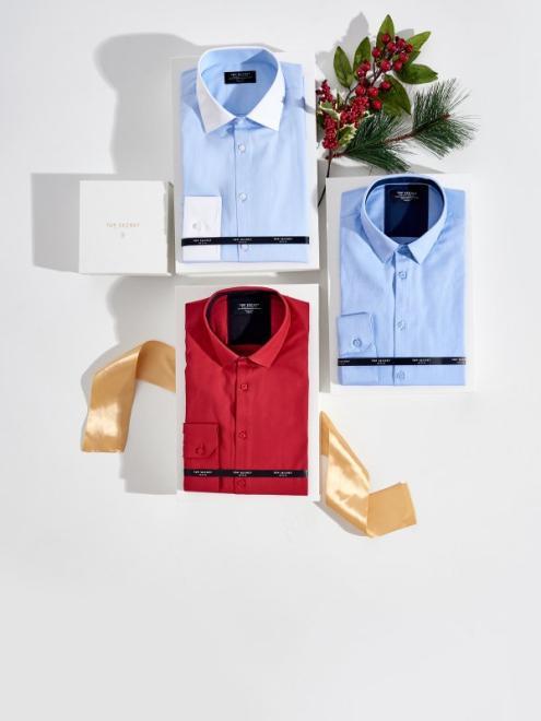 TOP SECRET  Koszula wizytowa o kroju slim SKL2771 Рубашка Красный оптом