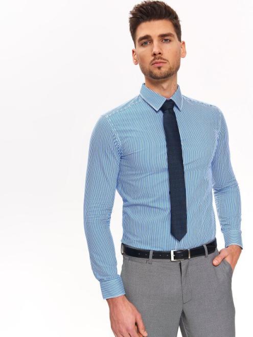 TOP SECRET  koszula w paski slim fit SKL2815 Рубашка Голубой оптом