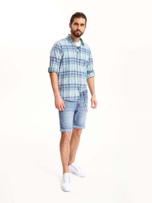 TOP SECRET  koszula długi rękaw  męska slim fit SKL2337 Рубашка Голубой оптом